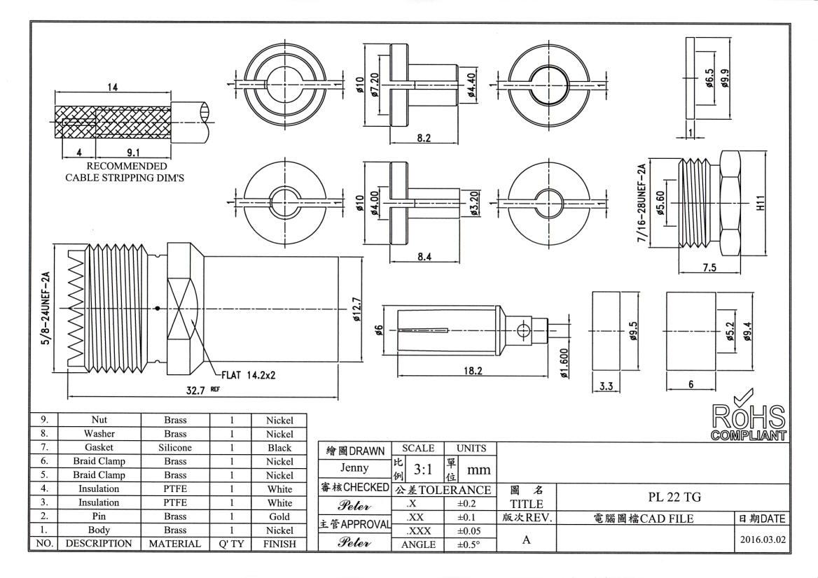 PL-Stecker für RG58 H2005